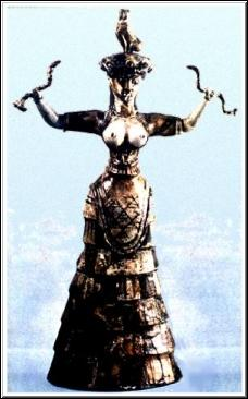 Minoan Snake Goddess (circa 1600 BC)